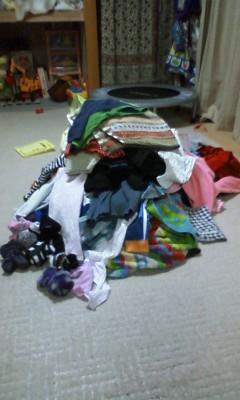 1日の洗濯量。。